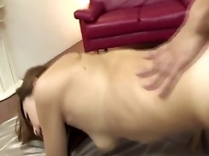Cute japanese babe fucked hard and creampied