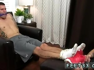 Hairy male feet and straight guys served by fags gay first time Johnny