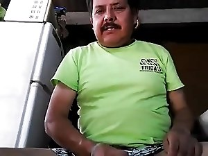 Mexican dad cums