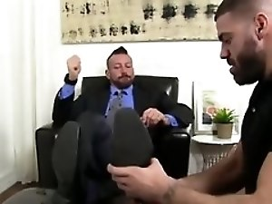 Of gay sexy hairy foot mens first time Hugh Hunter Worshiped
