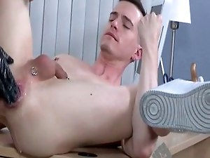 Gay old fuck porn Axel lays Brian back and slips his fist back into