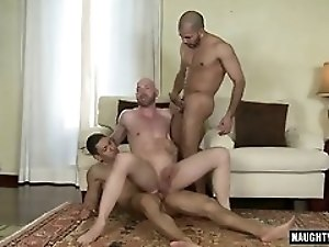 Latin gay flip flop and facial
