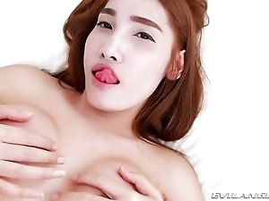 Sexy Ladyboy Jacks Off Hard While She Thinks Of You