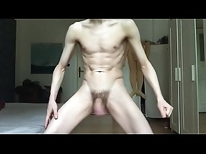 HORNY TWINK WANKS HIS UNCUT MEAT