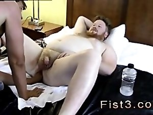 Gay fisting man cut video first time Sky Works Brock's Hole with his Fist