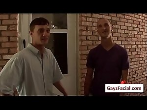 Bukkake Gay Boys - Nasty bareback facial cumshot parties 15