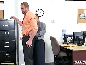 Middle age man masturbate gay porn First day at work
