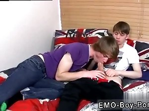 Gang bang one emo boy gay After eyeing the gorgeous James Radford wanking